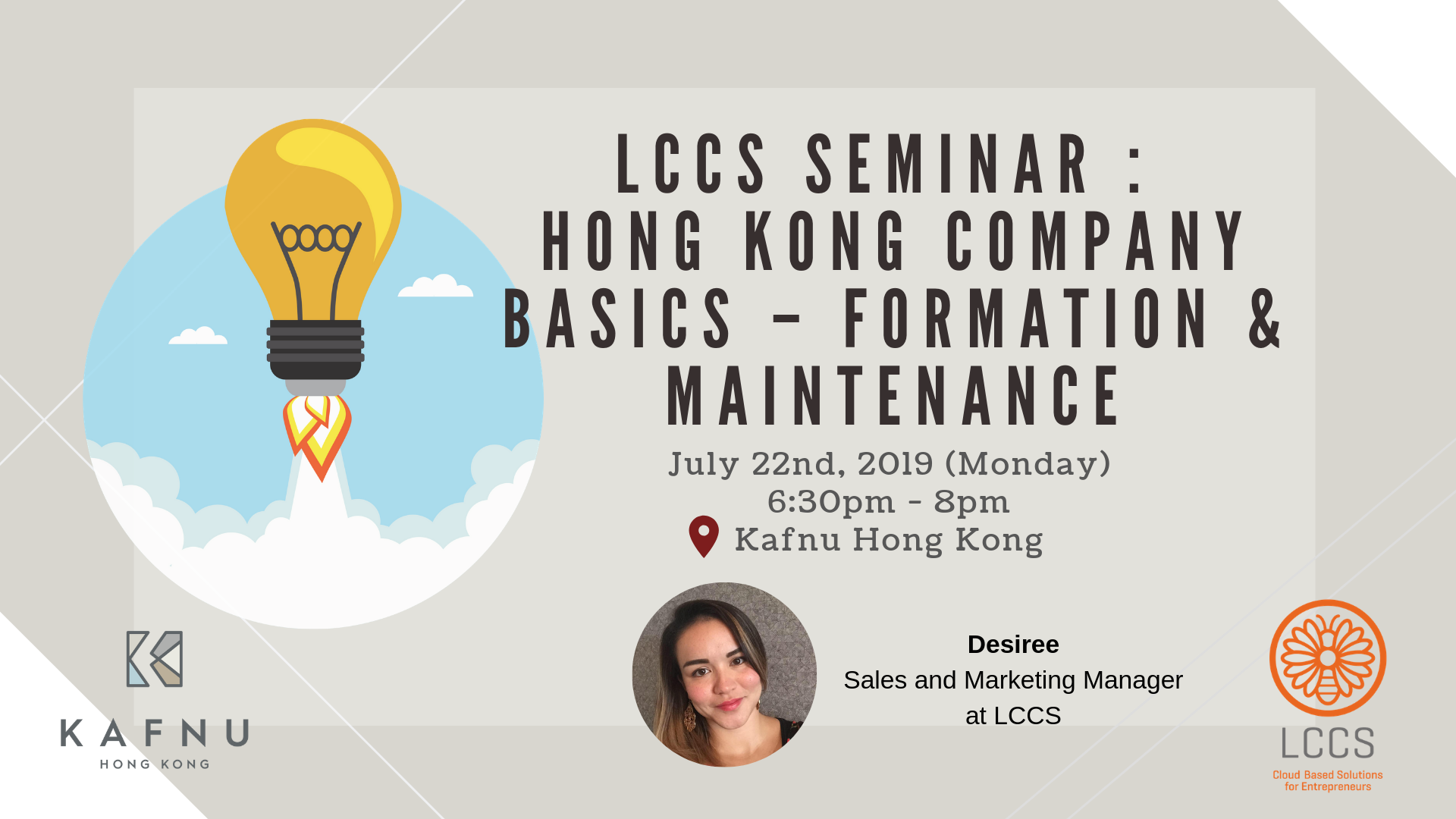LCCS Seminar : Hong Kong Company Basics – Formation & Maintenance